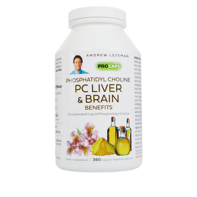 Andrew Lessman Phosphatidyl Choline Liver and Brain Benefits - 360 Capsules