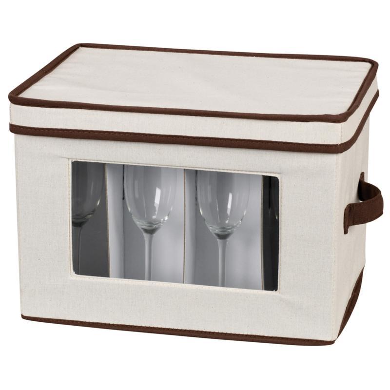 Household Essentials Canvas Flute Stemware Storage