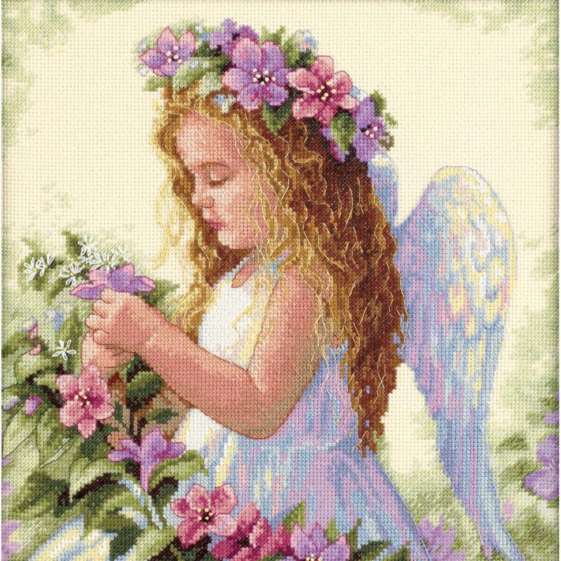 DIMENSIONS Angel Counted Cross Stitch Kit - 11 x 11