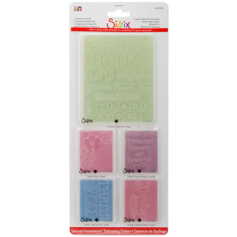 Sizzix Sizzix Textured Impressions Embossing Folders - Thank You #2