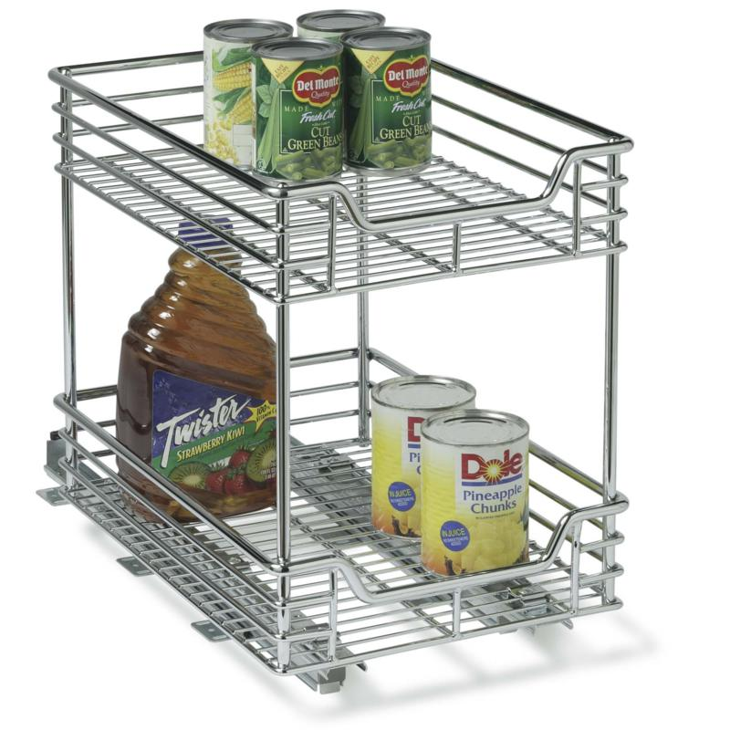 Household Essentials 2-tier Sliding Organizer - Chrome