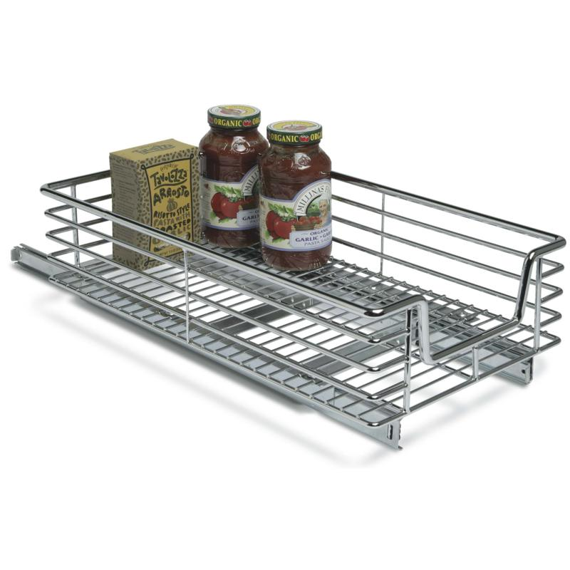 Household Essentials Extra Deep Sliding Cabinet Organizer - Chrome
