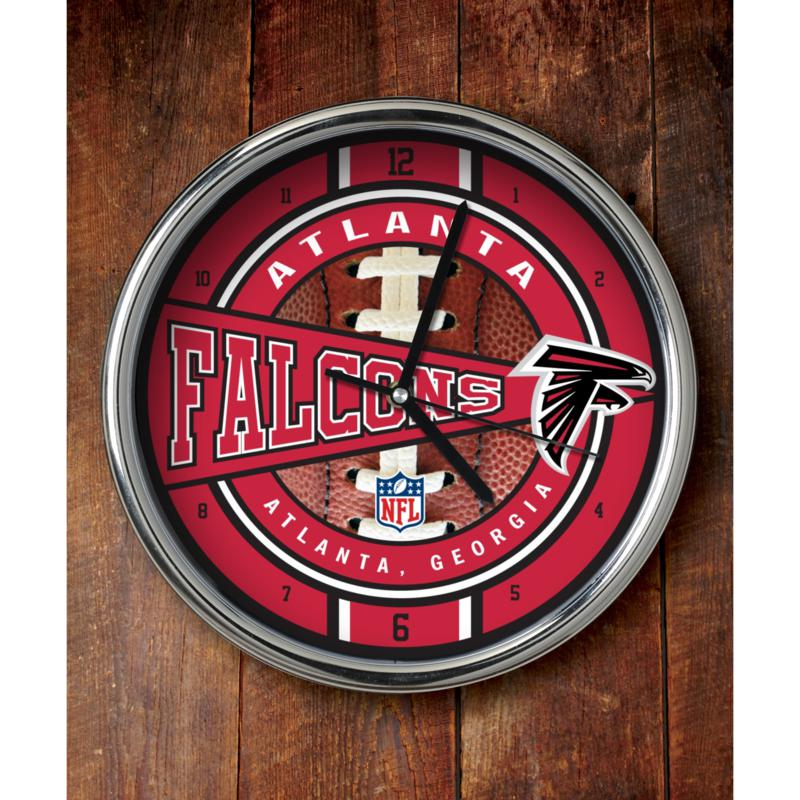 Football Fan Shop NFL Chrome Clock - Falcons
