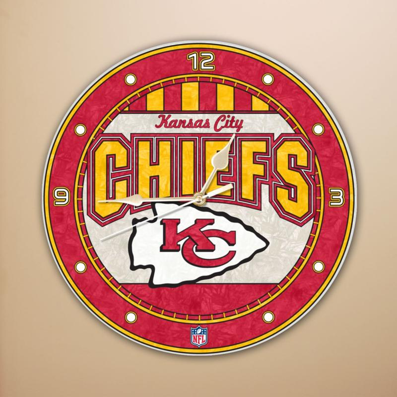 Football Fan Shop Wall Clock - Kansas City Chiefs