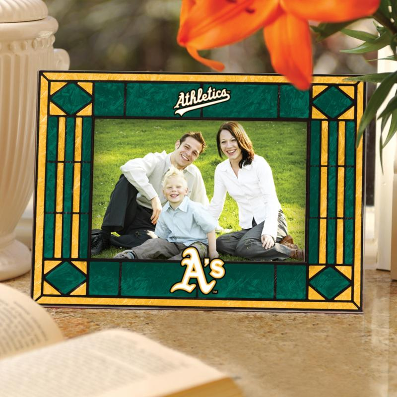 MEMORY Company Sports Team Art Glass Horizontal Picture Frame - Oakland Athletics