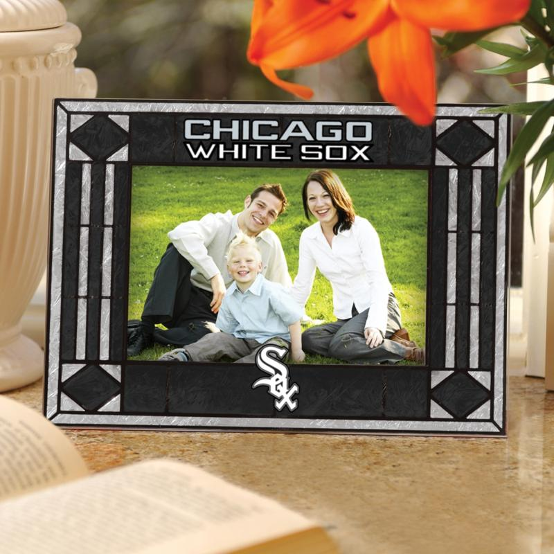 MEMORY Company Sports Team Art Glass Horizontal Picture Frame - Chicago White Sox