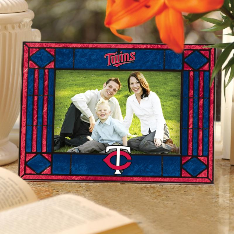 MEMORY Company Sports Team Art Glass Horizontal Picture Frame - Minnesota Twins