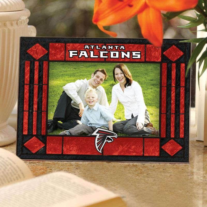 Football Fan Shop Sports Team Art Glass Horizontal Picture Frame - Atlanta Falcons