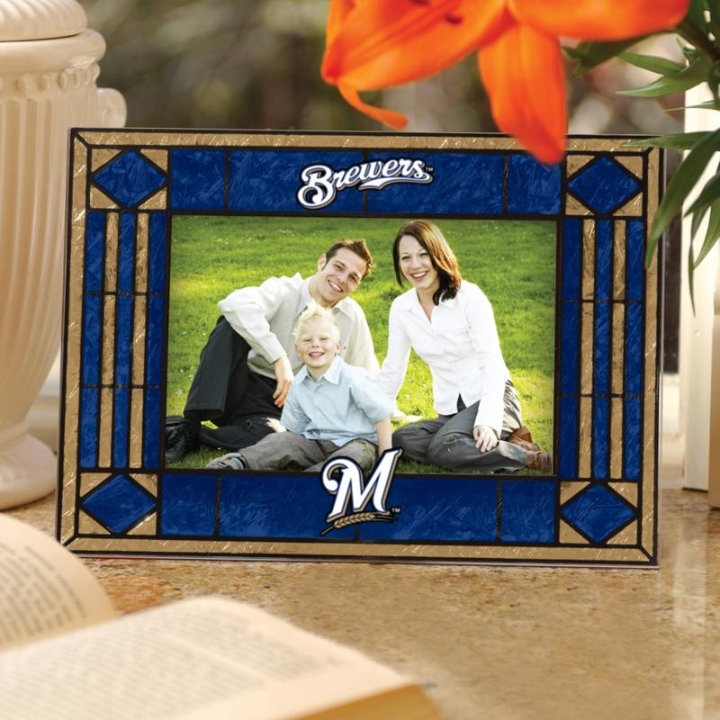 MEMORY Company Sports Team Art Glass Horizontal Picture Frame - Milwaukee Brewers