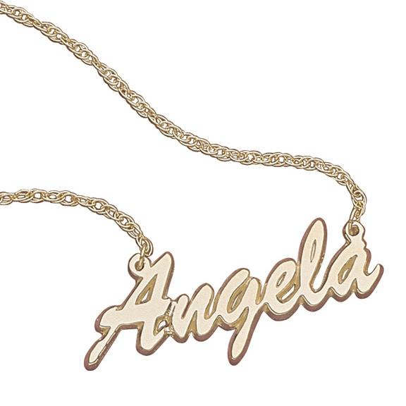 MBM COMPANY 10K Gold Script Name Necklace