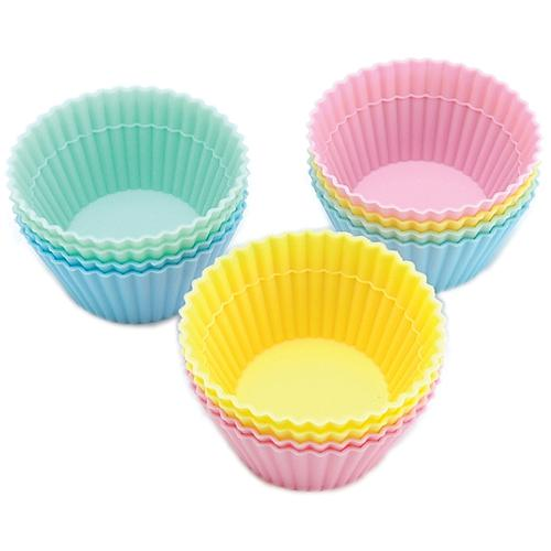 12 Silicone Baking Cups - Pastel