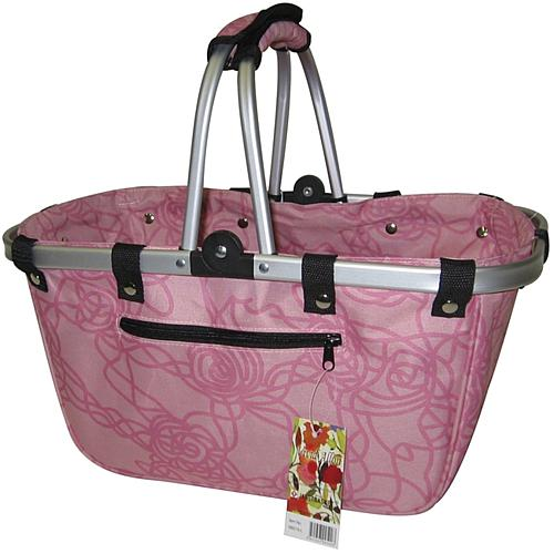 Large Aluminum Frame Bag - Rosy