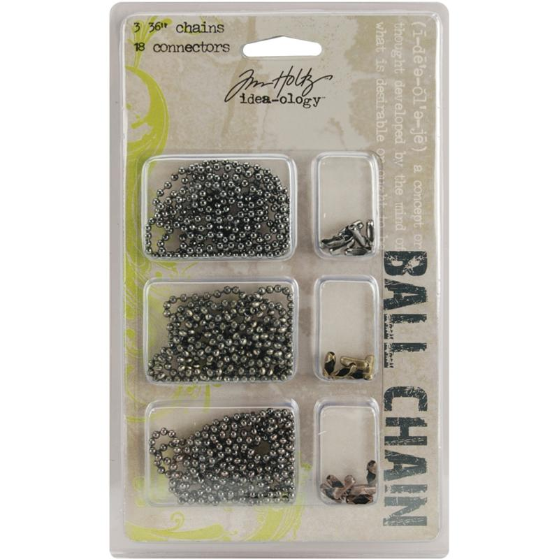 Tim Holtz Idea-Ology Bulky 5mm Bead Chain with Connectors