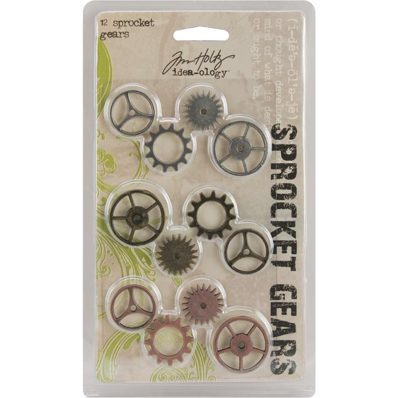 Tim Holtz Idea-Ology Sprocket Gears - Set of 12