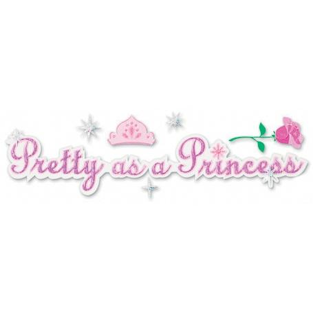 Scrapbooking Title Sticker - Pretty As A Princess