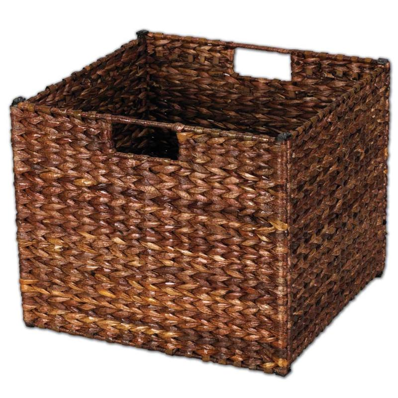Household Essentials Banana Leaf Storage Bin - Stained