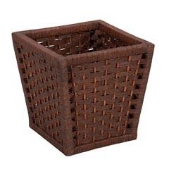 Household Essentials Paper Rope Stained Utility Basket