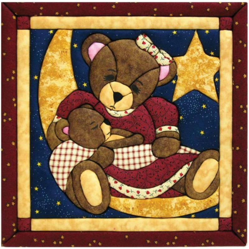 Quilt Magic Momma and Baby Bear Quilt Magic No Sew Wall Hanging Kit