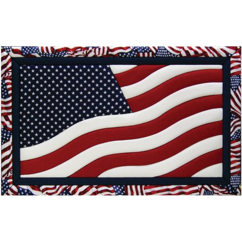 Quilt Magic American Flag Quilt Magic No Sew Wall Hanging Kit