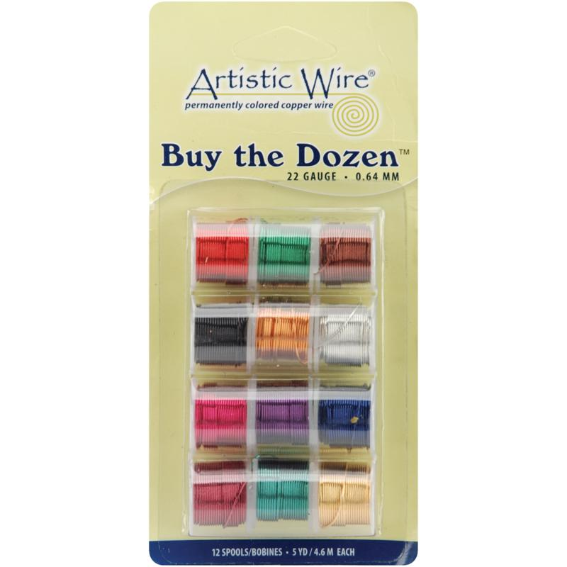 BEADALON Buy The Dozen Colored Copper Wire - 22 Gauge
