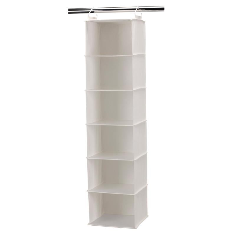 Household Essentials 6-Shelf Canvas Organizer with Plastic Shelves
