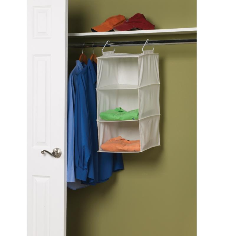 Household Essentials 3-Shelf Canvas Organizer