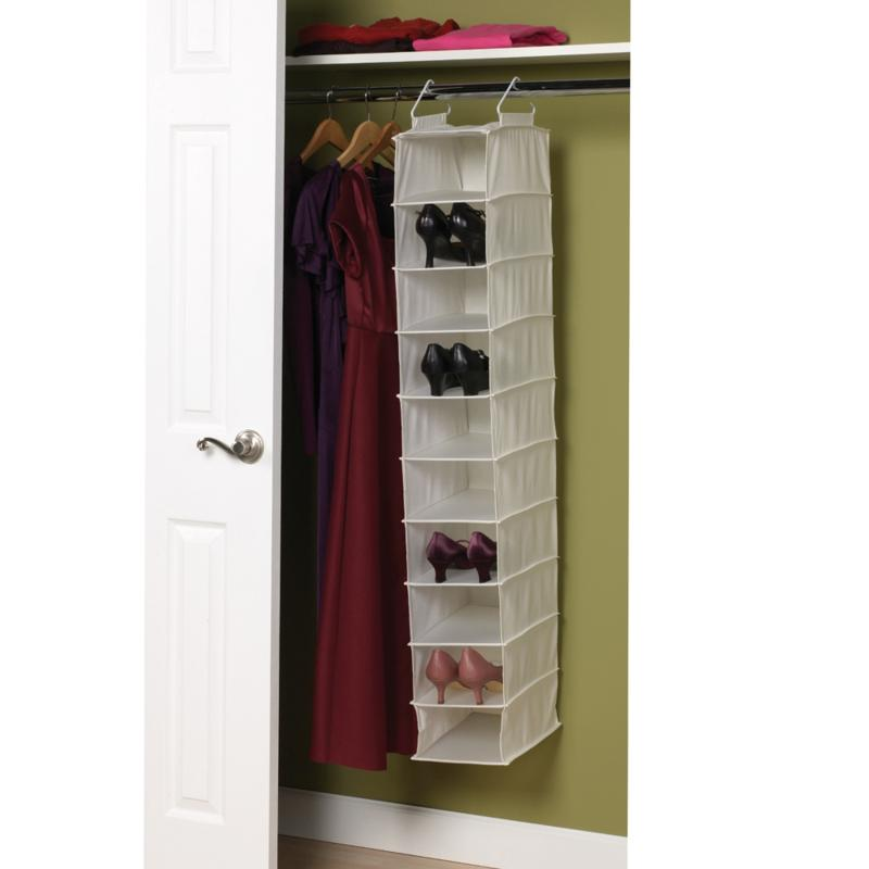 Household Essentials 10-Shelf Canvas Organizer with Plastic Shelves
