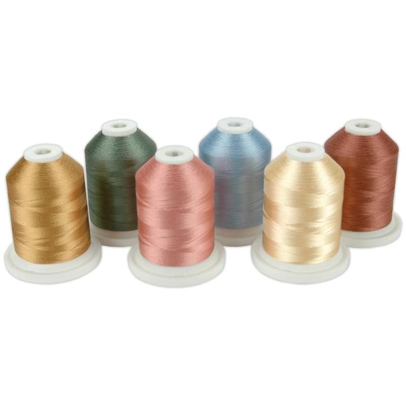Robison-Anton American and Efird Thimbleberries Mini-King Spools Rayon Thread Collection - Spring