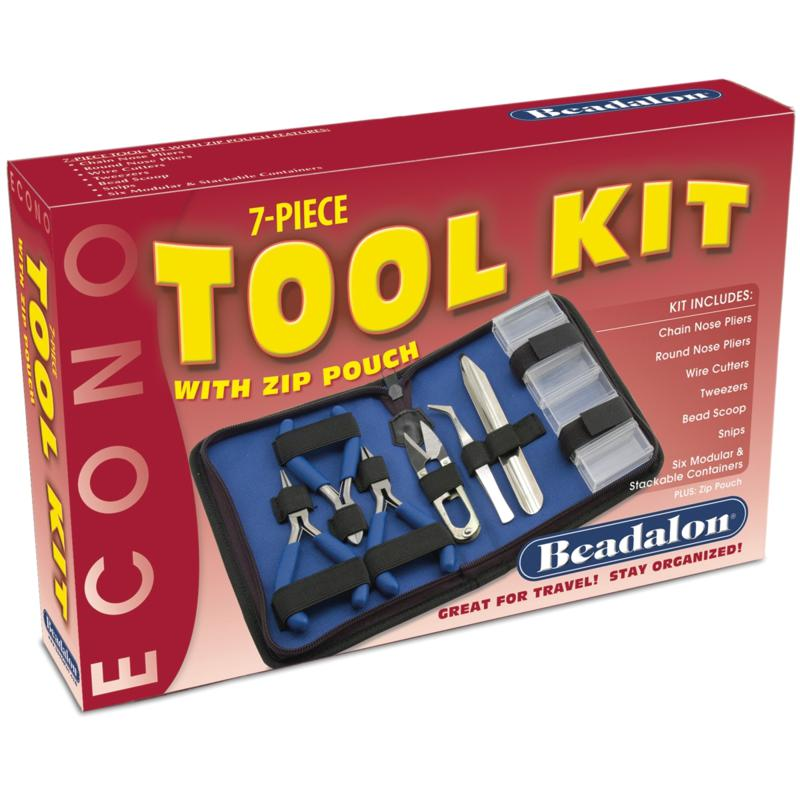 BEADALON Econo 7-piece Craft Tool Kit with Zip Pouch