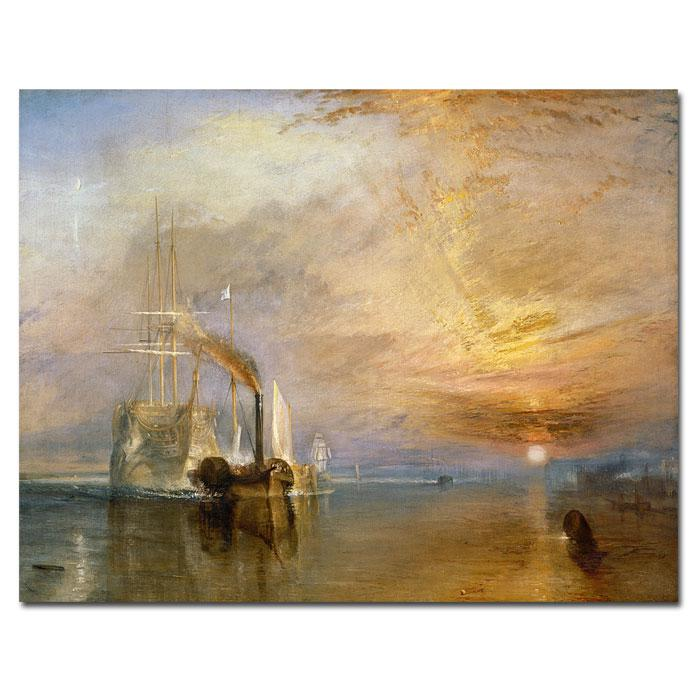 Home Marketplace 'The Fighting Temaraire' by Joseph Turner Canvas Art Print