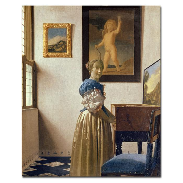 Home Marketplace Giclee Print - Lady Standing at the Virginal