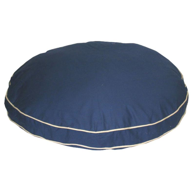 Carolina Pet Company Classic Twill Round-A-Bout Pet Bed with Contrast Cording - Small