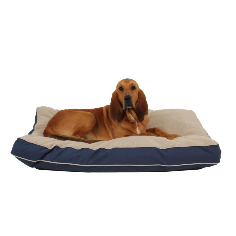 Carolina Pet Company Four Season Jamison with Cashmere Berber Pet Bed with Contrast Cording - Large