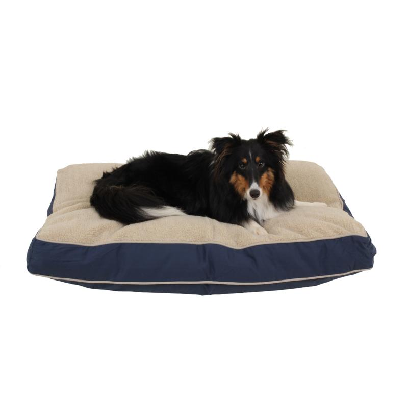 Carolina Pet Company Four Season Jamison with Cashmere Berber Pet Bed with Contrast Cording - Small