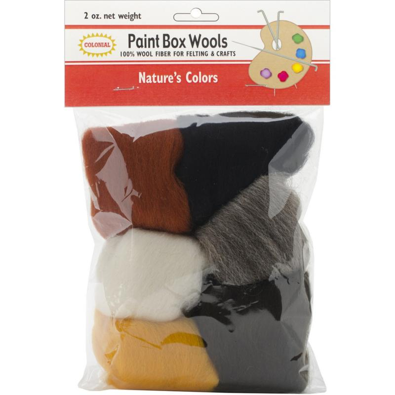 COLONIAL NEEDLE Colonial Needle Paint Box Set of 6 Wool Yarn - Nature