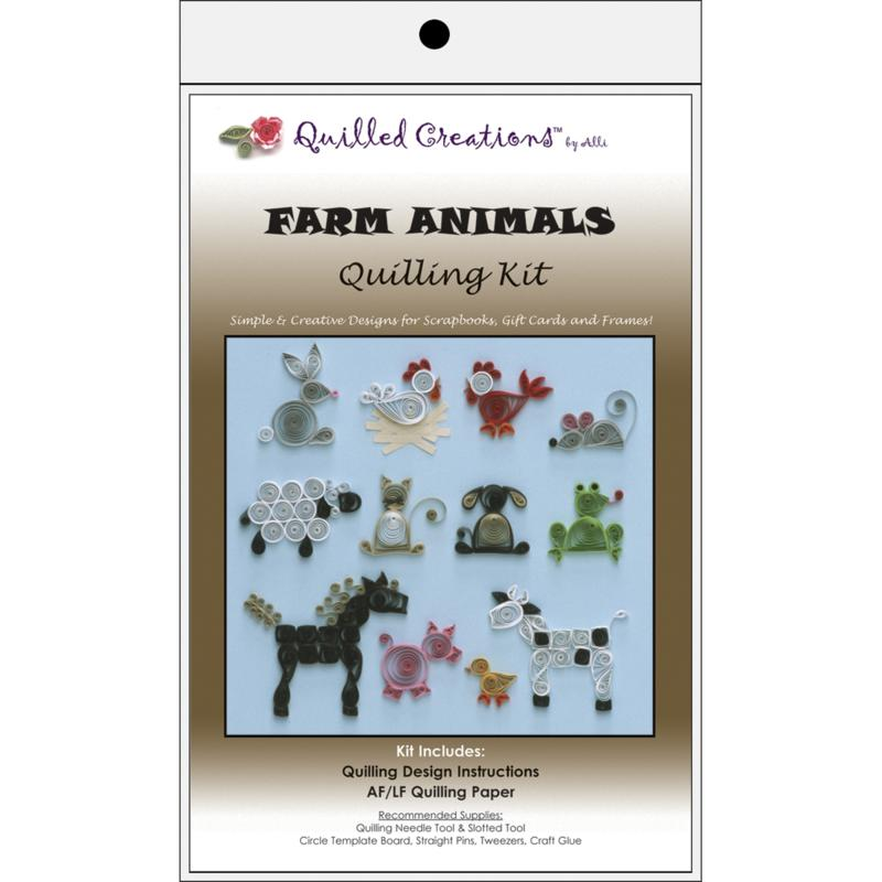 QUILLED CREATIONS Quilled Creations Quilling Kits - Farm Animals
