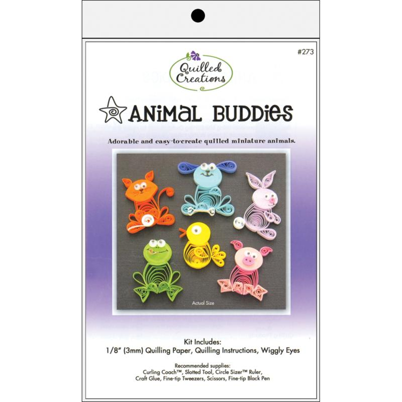QUILLED CREATIONS Quilled Creations Quilling Kit - Animal Buddies