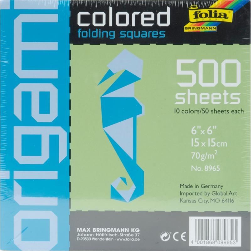 Global Art Folia Origami Paper 6X6 500-pack - Assorted