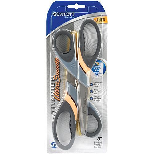 Ultra Smooth Titanium Straight Scissors 8