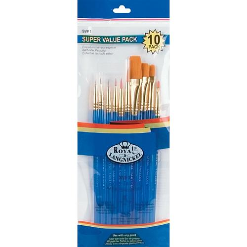Gold Taklon 10-piece Brush Set