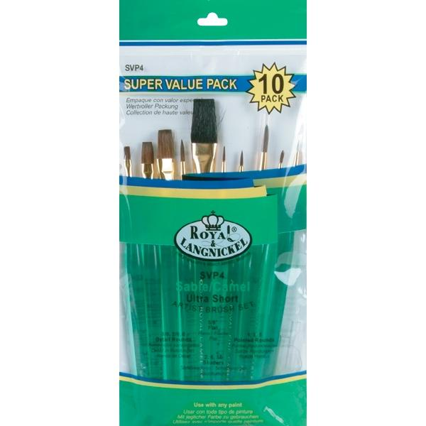 ROYAL BRUSH Sable/Camel 10-piece Brush Set