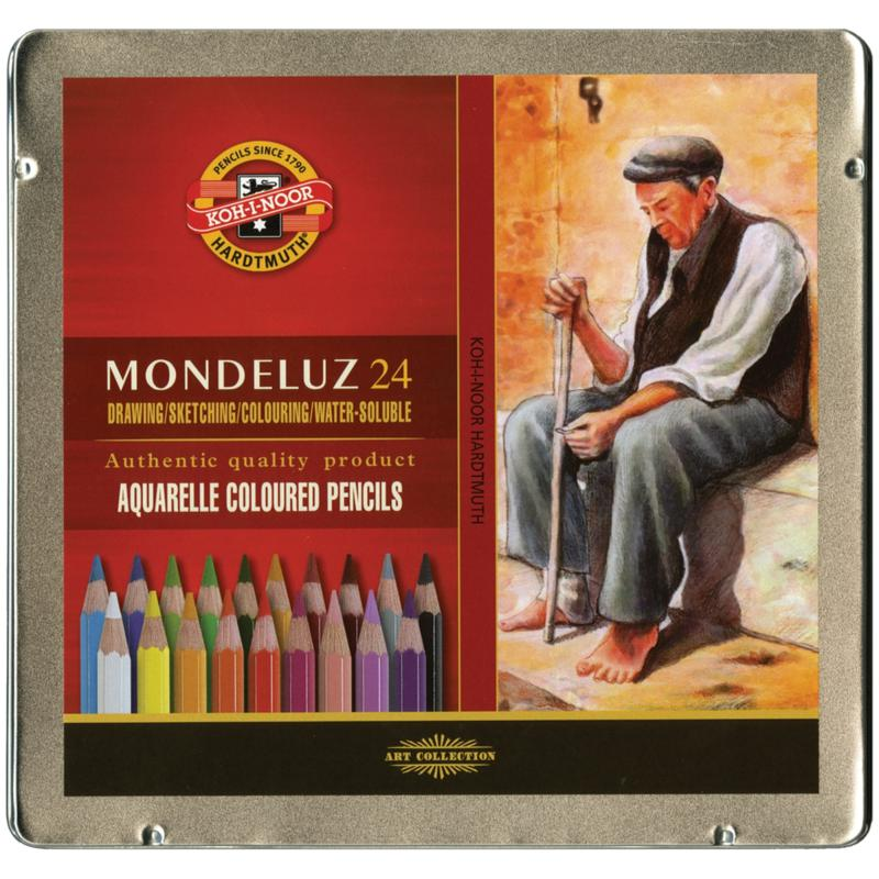 Chartpak Mondeluz Aquarell Watercolor Pencils by Chartpak - 24-pack