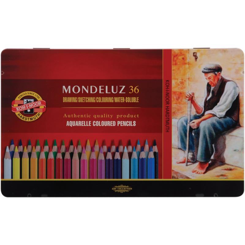 Chartpak Mondeluz Aquarell Watercolor Pencils by Chartpak - 36-pack