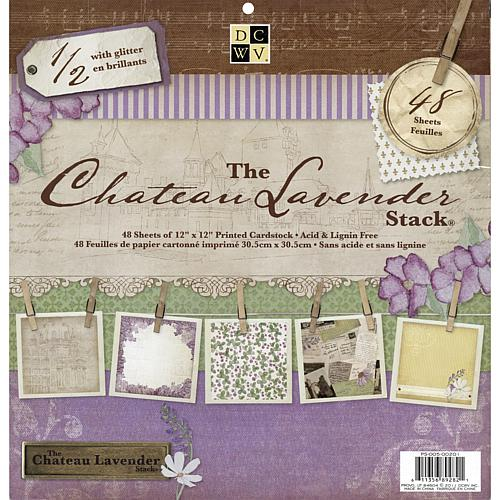 Chateau Lavender Paper Stack - 48 Sheets