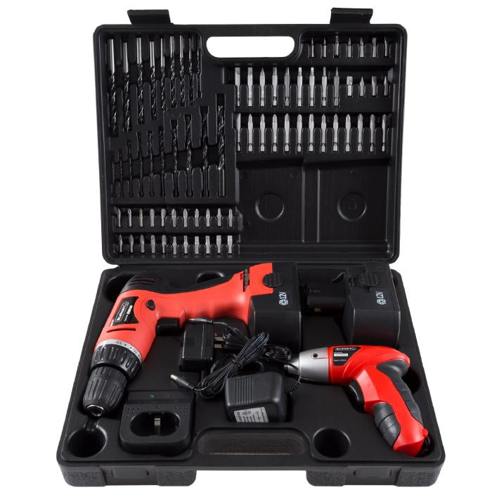 Trademark Global, Inc. 74-piece Combo Cordless Drill and Driver Set