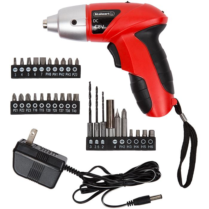 Trademark Global, Inc. 25 piece 4.8-Volt Cordless Screwdriver with LED