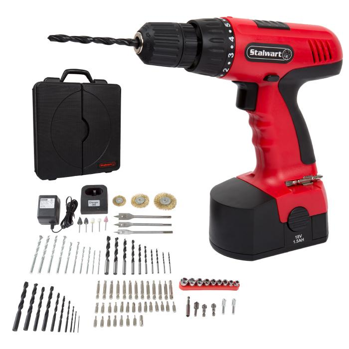 Trademark Global, Inc. 18-Volt Cordless Drill Set - 89-pieces