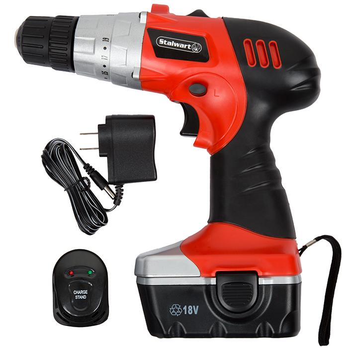 Trademark Global, Inc. 18-Volt Cordless Drill with LED Light and Extras