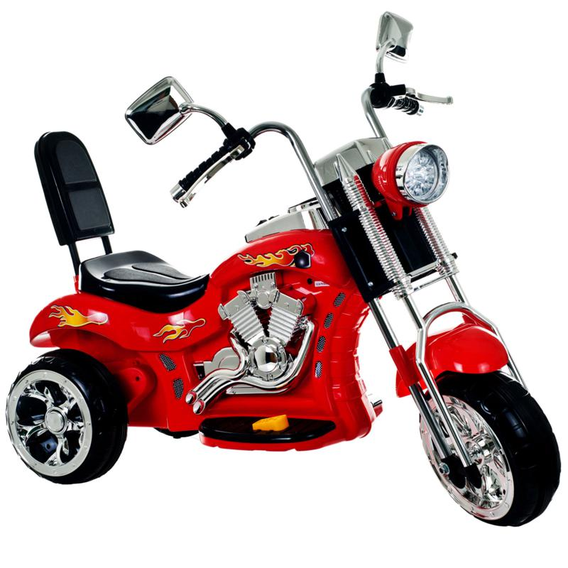 Trademark Global, Inc. Red Rocking Three Wheel Chopper Motorcycle