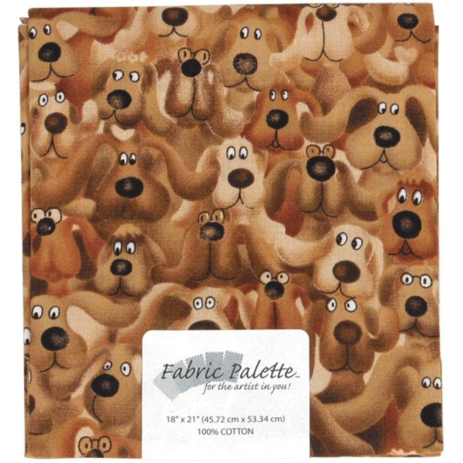 Fabric Editions Fabric Palette 1/4-Yard 100% Cotton Fabric - Brown Dog